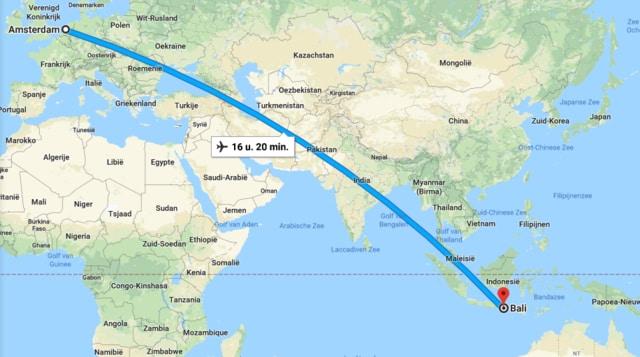 Bekijk de ligging van Bali op de wereldkaart