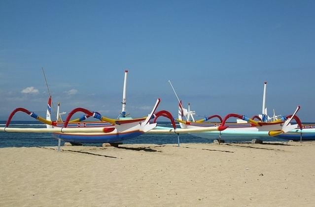 Het strand van Sanur