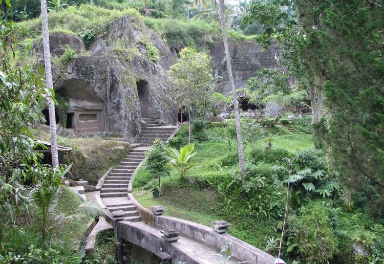 Entree van Gunung Kawi Sebatu tempel