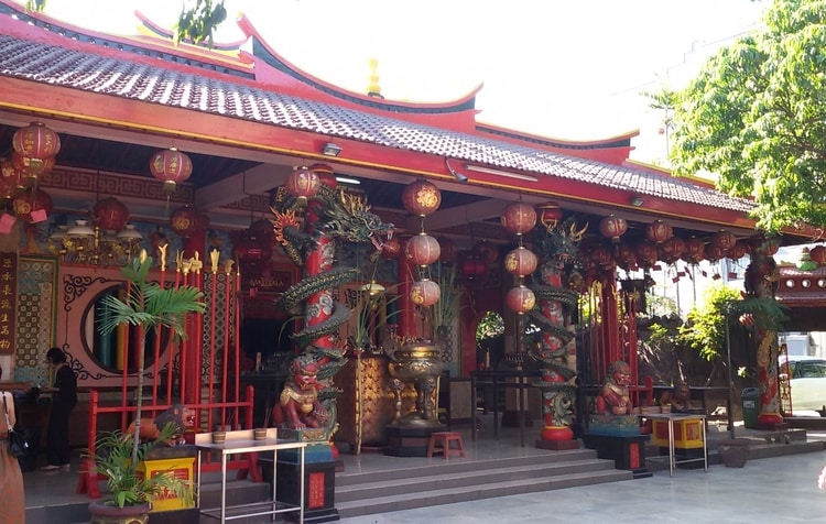 Vihara Dharmayana tempel in Kuta